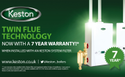 Keston is offering warranties of up to seven years on its Combi and System boilers.