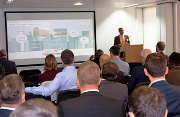 Ian Allan, head of R&D for Switch2 Energy, presents at district heating seminar.