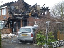 Mrs Brown's home after the explosion