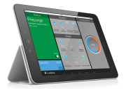 The Lochinvar Con-X-us app controller in use via an iPad.