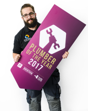 Drew Styles, UK Plumber of the Year 2017.