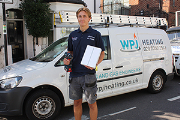 Callum Megarry, apprentice at WPJ Heating and Worcester Bosch Apprentice of the Year 2018.