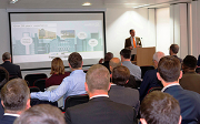 Ian Allan, head of research and development at Switch2 Energy, presents at a heat network seminar.