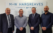 Left to right: Pete Williams, labour manager; Paul Rogers, quality manager; Julian Dorgan, regional director (North); and Aiden Smith, construction manager.