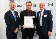 Left to right: Chris Wright, BSI; Adam West, technical director at Kershaw Group; Ian Greenstock, managing director at Kershaw Group.