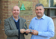 Malcolm Farrow, marketing and communications manager (left) with Paul Rose, chief executive of OFTEC.