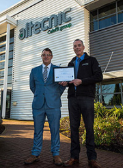 Paul Skinner, quality manager at Altecnic (left) and Paul Taylor, certification director at NSF International.