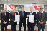 Left to right: Robert Floyd (BSI), Gianni Airaga, Graham Mckay (BSI), Gary Perry (Altecnic), Martyn Grice (BSI).