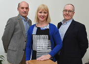 Left to right: Paul McDowell, Jacqui Kelly and Mark Hockton.