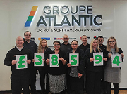 The team effort of Groupe Atlantic UK employees generated a total donation of £38,594 for Macmillan Cancer Support.