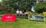 Members of Fujitsu and TQ Environmental at Hollins Hall Golf and Country Club.