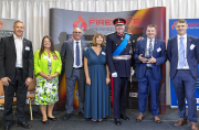 Award winners – left to right, Mark Harrison; Helen Broughton MBE, Deputy Lord Lieutenant of Lancashire; Charles Coxen and Carolyn Branagan, Lord Shuttleworth KG KCVO, Lord-Lieutenant of Lancashire; Richard Coxen and Robert Coxen.