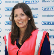 MP Michelle Donelan visits Wavin Chippenham site.