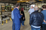 Chris Powell, managing director at Fabdec leading tour.