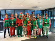 The Clay Cross team in their festive elf attire.