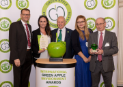 Left to right: Darren Egglesden, technical engineer at Polypipe Building Services; Rosie Cheetham, marketing manager at Polypipe Civils; Roger Wolens, managing director of The Green Organisation; Dora Zielinski, environmental manager at Polypipe Building Products; Phil Henry, market development director – specification, Polypipe Group.