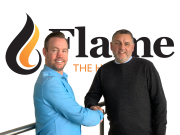 left to right: John Savage welcomes Ian Benoliel to Flame Heating Group.