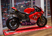 The new PBM Ducati sponsored by Aqualisa.