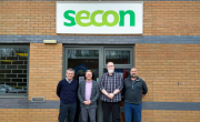 Left to right: Kevin Carling managing director, Secon, Darryl Smith managing director, AUK, Andy Reah director, AUK, Paul Hind director, Secon.