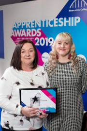 Angie Brand (left) shows off her Apprentice of the Year Award with Angie Brand (left) shows off her Apprentice of the Year Award with Daikin Applied's HR advisor Stacey Warnaby