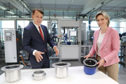Ziehl-Abegg chief executive Peter Fenkl and The Minister for Economic Affairs (Baden-Württemberg) Dr Nicole Hoffmeister-Kraut
