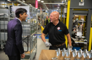 The Chancellor Rishi Sunak visited the Worcester Bosch factory