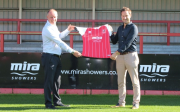 Craig Baker, managing director at Kohler Mira and Paul Bence, commercial director at Cheltenham Town
